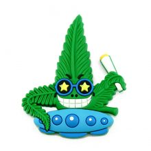 Hempy The Spacestoner Cannabis Magnete 3D in silicone