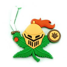 Hempy The Knight Cannabis Magnete 3D in silicone