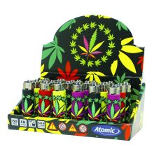 Atomic Accendini con Cover in Silicone 3D Weed Leaf Crown (24pezzi/display)