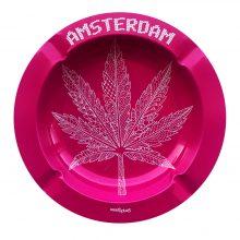 Best Buds - Posacenere in Metallo foglia di erba rosa