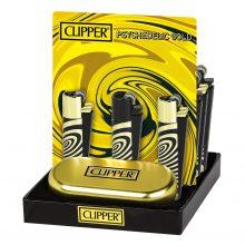 Clipper Accendini in Metallo Psychedelic Gold (12pezzi/display)