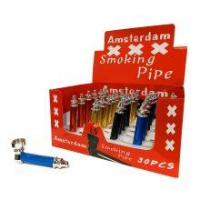 Pipa Tabacco Amsterdam in Metallo XXX (30pezzi/display)