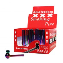 Pipa Tabacco Amsterdam in Vetro Arcobaleno (30pezzi/display)