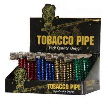 Pipa Tabacco in Metallo Colorato a spirale (24pezzi/display)
