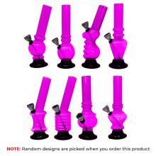 Mini bong viola in Plastica Design Misti 15cm