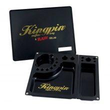 RAW Kingpin Mafioso Vassoio per Rollare Nero Large