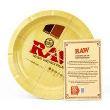 RAW Vassoio per rollare Rotondo in Metallo 31 cm