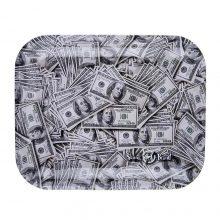 Skunk Brand Vassoio per rollare in metallo Dollar Bills Large