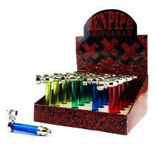 Pipa Tabacco in Metallo con tubo in plastica Zen Pipe Amsterdam (24pcs/display)
