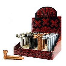 Pipa Tabacco in Metallo Zen Pipe Weed Leaves (24pcs/display)