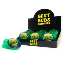 Best Buds Plastic Grinders AK47 3 Parts - 50mm (12pcs/display)
