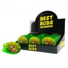 Best Buds Plastic Grinders Gorilla Glue 3 Parts - 50mm (12pcs/display)