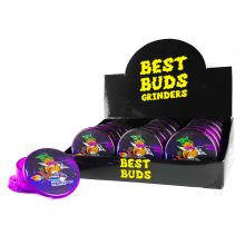Best Buds Plastic Grinders Pineapple Express 3 Parts - 50mm (12pcs/display)