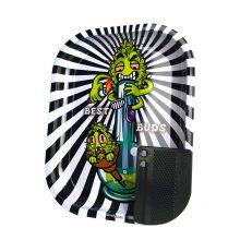 Best Buds Vassoio per rollare Smoke Me Piccolo con Grinder Card