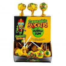 Cannabis Airlines Cannabis Suckers Lollipops with Bubble Gum THC Free (1.25kg)