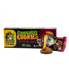 Cannabis Airlines Biscotti alla Cannabis Strawberry Dream Senza THC 120g (14confezioni/masterbox)