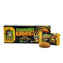 Cannabis Airlines Cannabis Cookies Super Lemon Haze THC Free 120g (14pcs/masterbox)