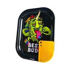 Best Buds Vassoio per rollare LSD Piccolo con Grinder Card