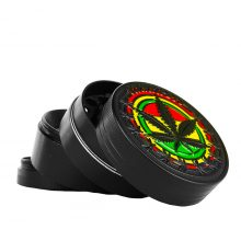 Metal Grinder Rasta Temple 4 Parts - 40mm (12pcs/display)