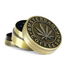 Metal Grinder Gold Leaf Coffeeshop 3 Parts – 40mm (12pcs/display)