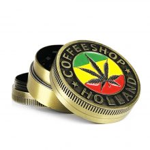 Metal Grinder Gold Rasta Holland 3 Parts – 40mm (12pcs/display)