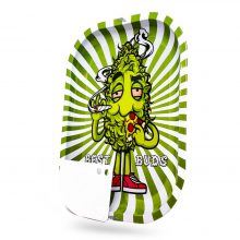 Best Buds Pizza Vassoio per rollare in metallo Large + Grinder Card magnetica