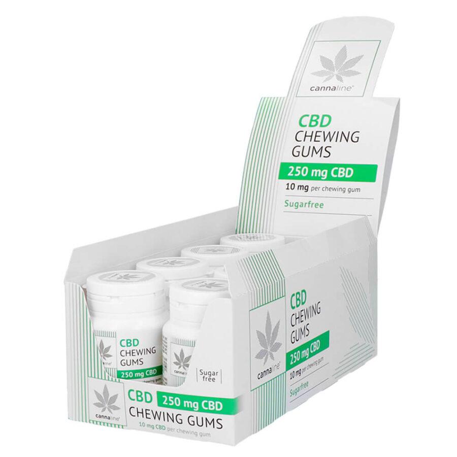 Cannaline Chewin Gums con 250mg CBD (8pcs/display)