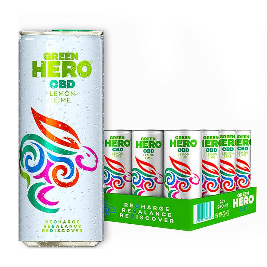 Green Hero Limonata Frizzante 10mg CBD Senza THC (24lattine/masterbox)