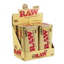 RAW Unrefined 100 Filtri Pre-Rollati (6confezioni/display)