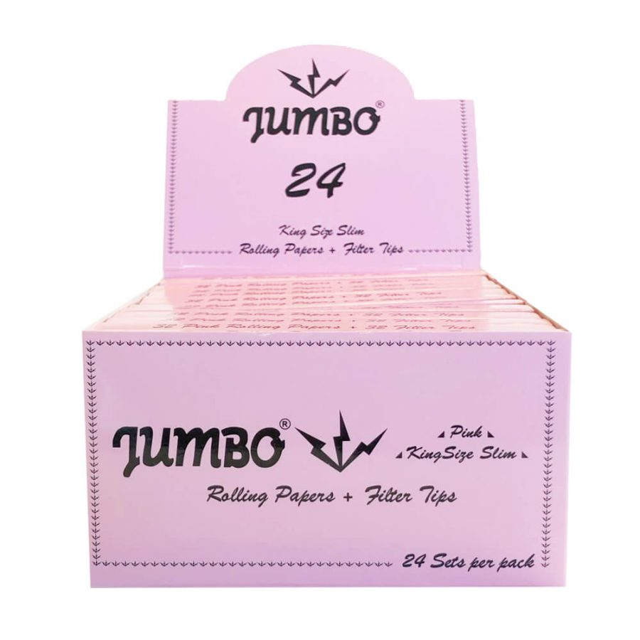 Jumbo Cartine King Size Rosa con Filtri (24pezzi/display)