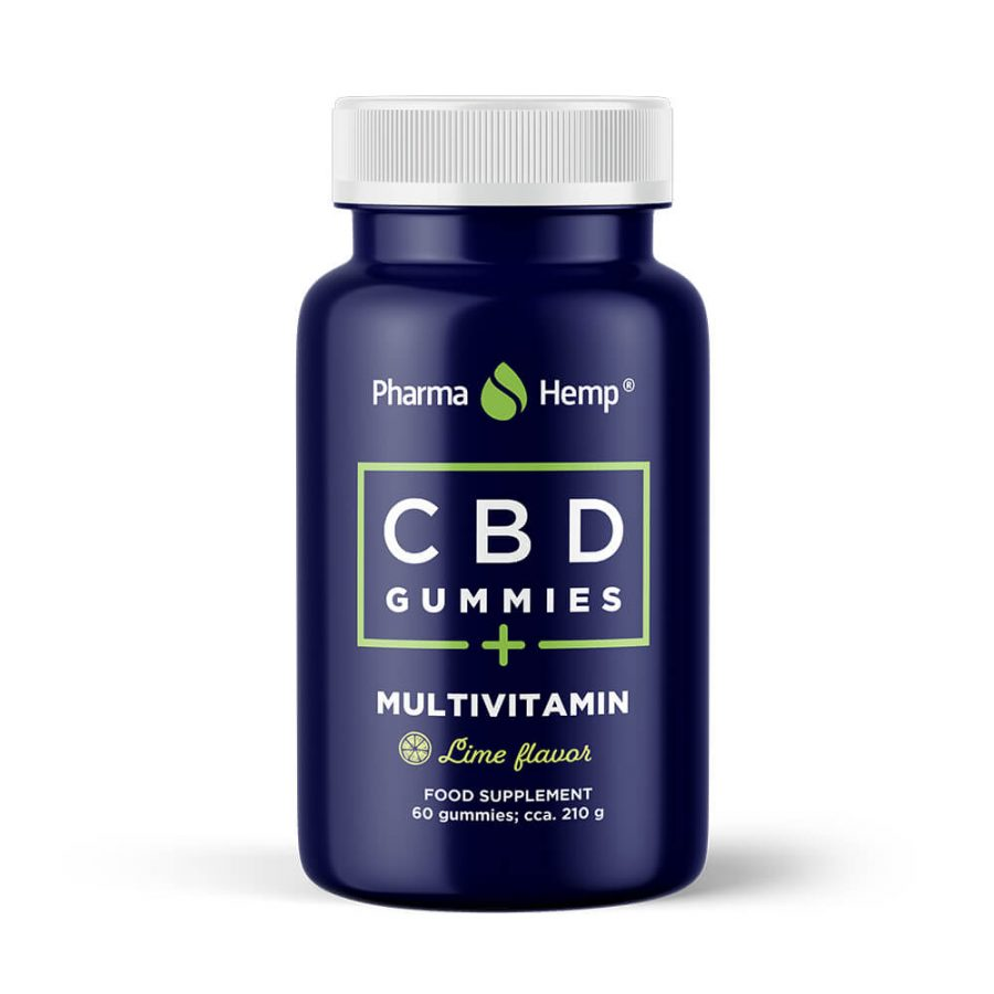 Pharma Hemp Caramelle Multivitaminiche Vegane 10mg CBD (210g))