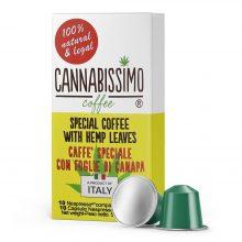 Cannabissimo Capsule compatibili Nespresso con Foglie di Canapa (10 capsule)