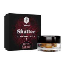 Happease Estratto di CBD Strawberry Field Shatter 58% CBD (1g)