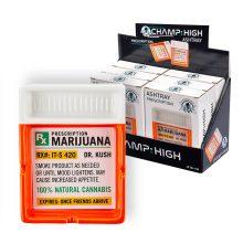 Champ High Posacenere in Vetro Prescrizione Cannabis (6pezzi/display)