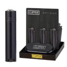 Clipper Accendini in Metallo Black Metal + Giftbox (12pezzi/display)